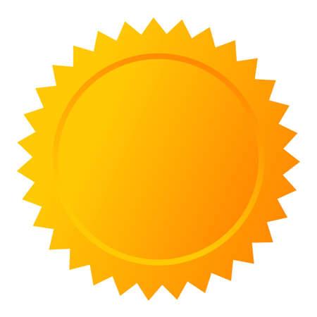 Blank gold star seal Illustration