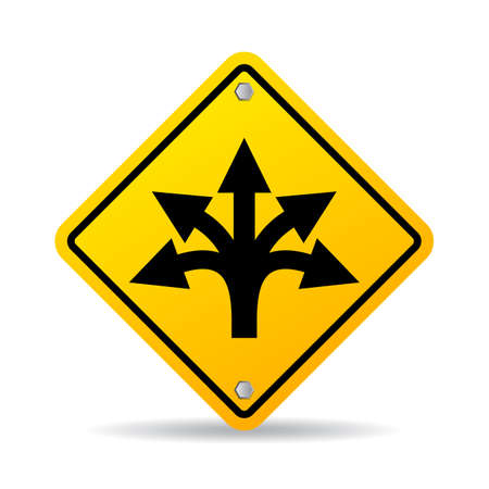 branching: Many ways road sign