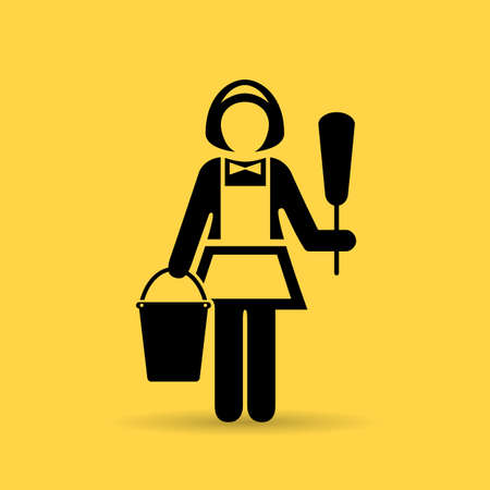 chores: Charwoman maid icon