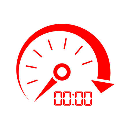Speed indicator icon Illustration