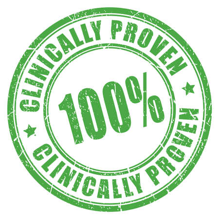 hypoallergenic: Clinically proven rubber stamp Illustration