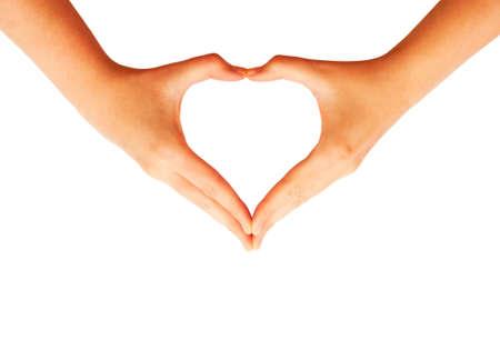 Handen maken van liefde hart symbool
