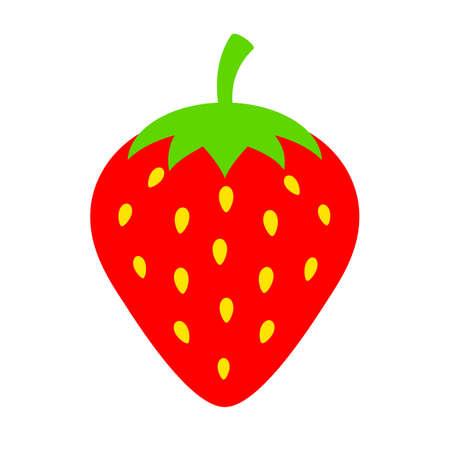 Strawberry vector icon Illustration