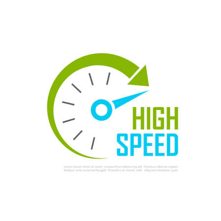 compteur de vitesse: logo de vitesse rapide