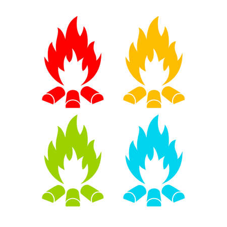 flammable: Fire vector icon Illustration
