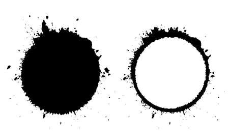 Grunge Kreis und Blot-Symbol Standard-Bild - 66779816