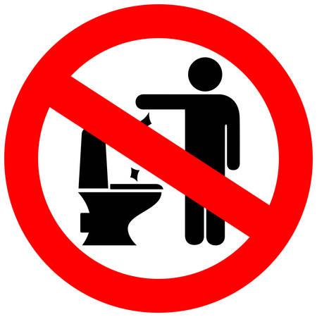 No toilet littering sign Illustration