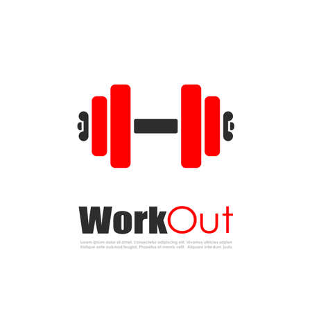 fitness workout: Fitness workout vector logo