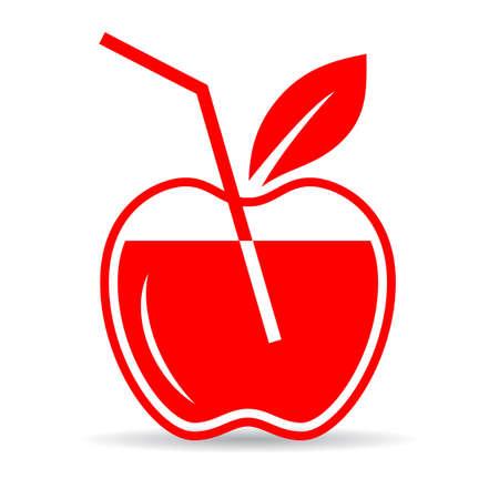 Apple juice icon Illustration