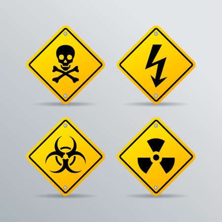 toxic substance: Danger vector sign