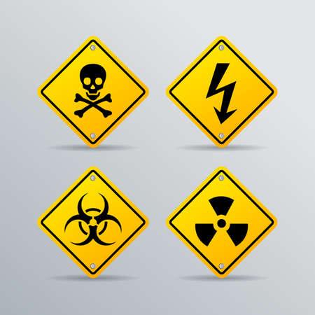 Signe de vecteur de danger