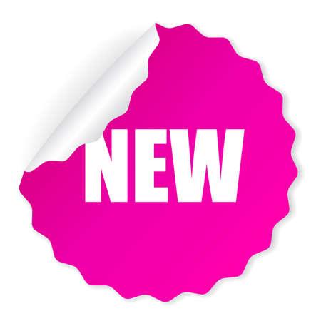 Nieuwe vector sticker Stock Illustratie