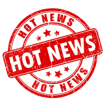 hot news: Hot news rubber stamp