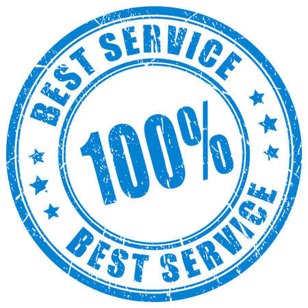 recognized: Best service rubber stamp