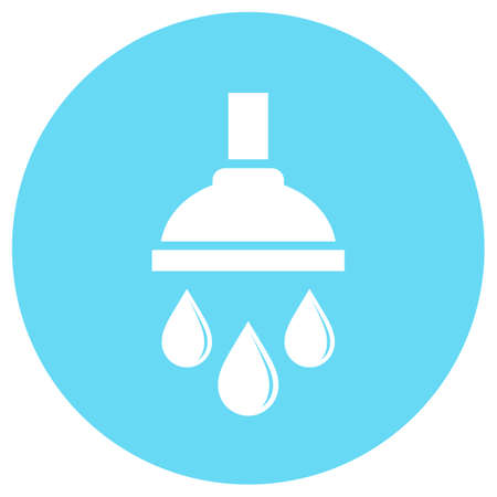 Shower bath vector icon Illustration