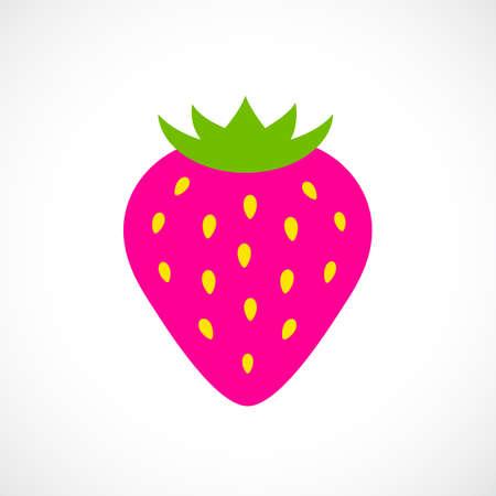 ripe: Ripe strawberry vector icon