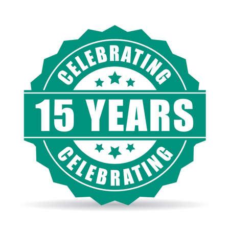 15 年周年の記念アイコン