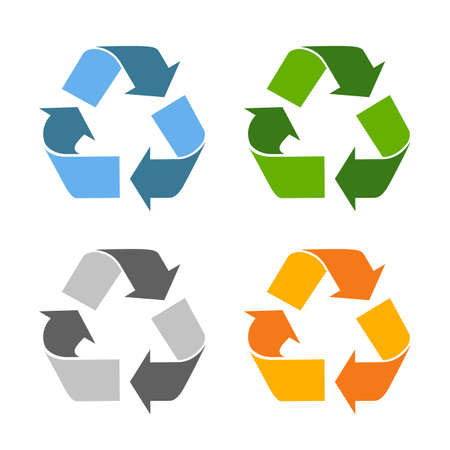 Recycled eco vector icon