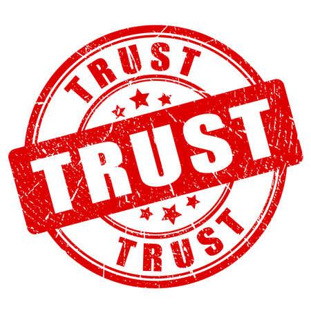 Trust rubber stamp Illustration