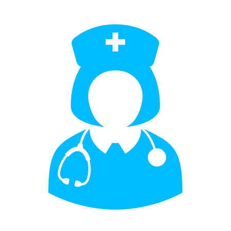 physicist: Woman doctor vector icon Illustration