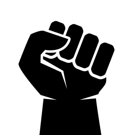 aggression: Strong man fist icon Illustration
