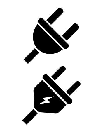 Electric plug vector icon Illustration