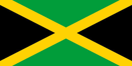 Jamaica flag vector illustration, accurate proportions and colors