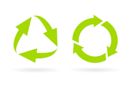 Eco recycled cycle icon Illustration