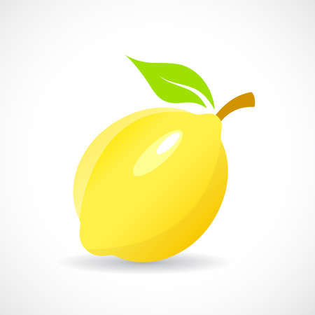 Lemon vector icon illustration