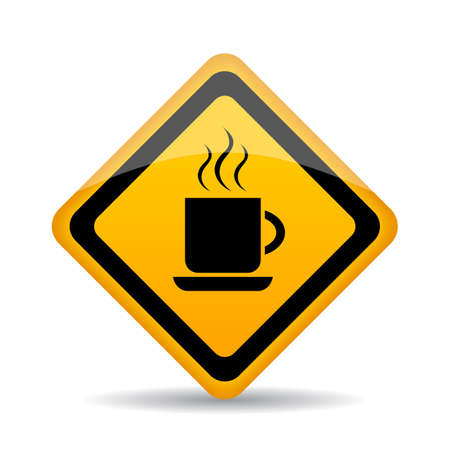 sign road: Coffee cup vector sign