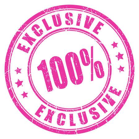 exclusive: Exclusive rubber vector stamp