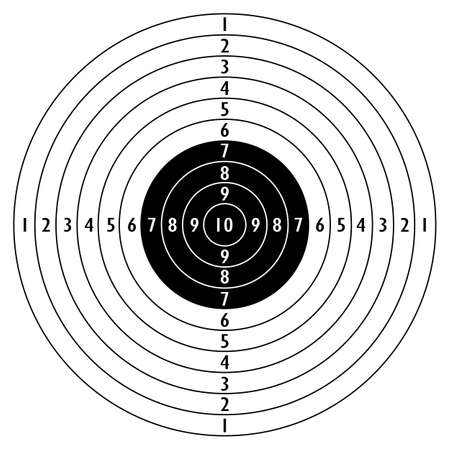 Shooting target icon Stock Vector - 66781624