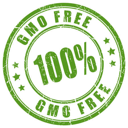 hundred: Gmo free rubber stamp