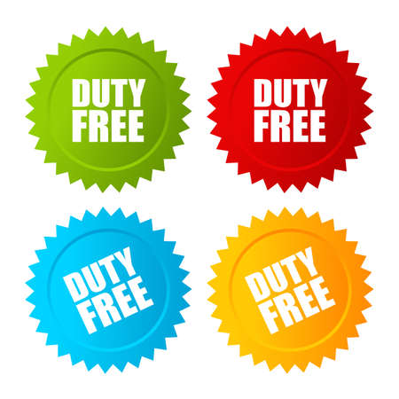 taxable: Duty free vector label