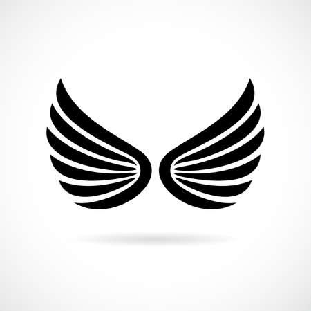 Flügel Vektor-Symbol