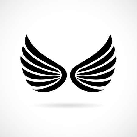 feathering: Wings vector icon