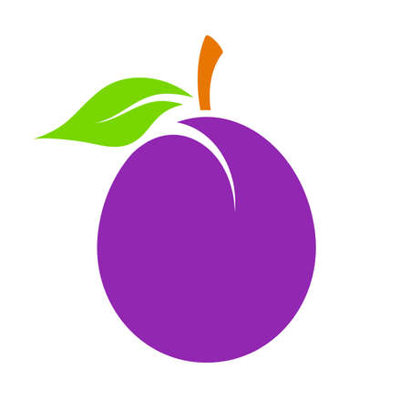 alycha: Plum vector icon Illustration
