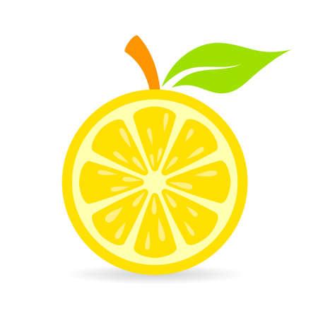 ripe: Fresh lemon vector icon