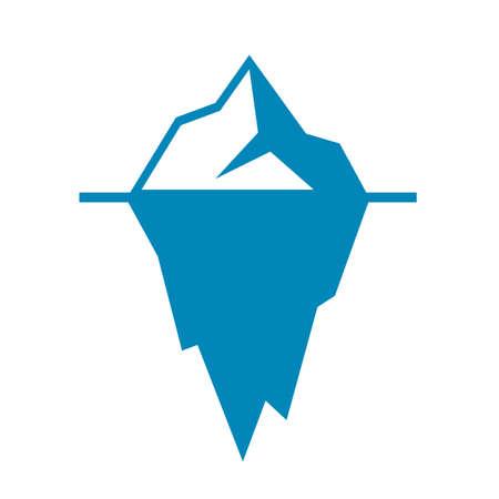氷山ベクトル アイコン  イラスト・ベクター素材