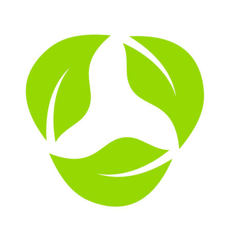 Leaves eco recycle icon Illustration