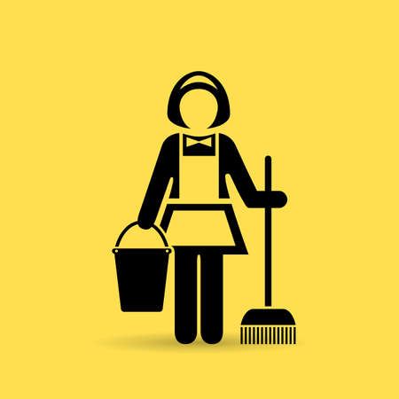 Cleaner maid vector icon