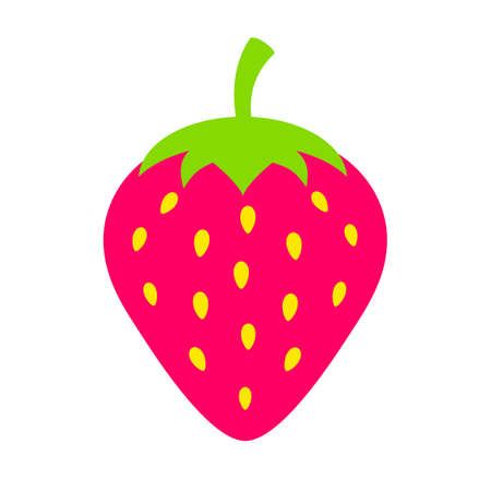 Strawberry vector icon illustration