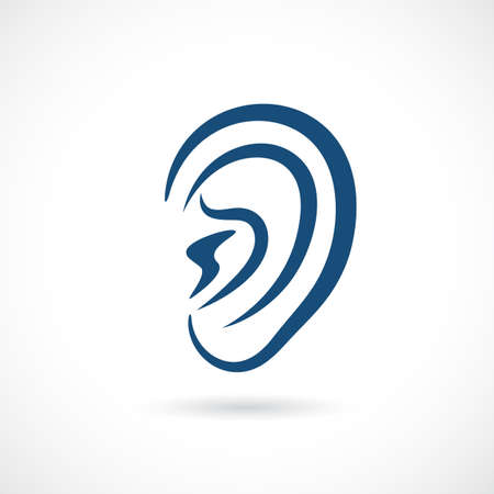 aural: Ear vector icon