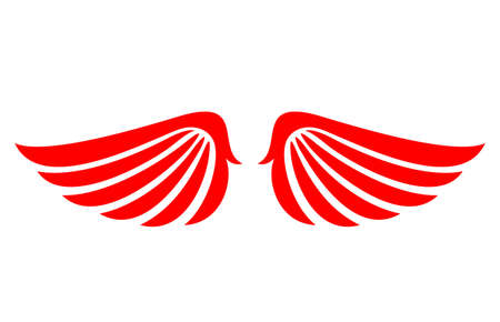 feathering: Angel wings vector icon