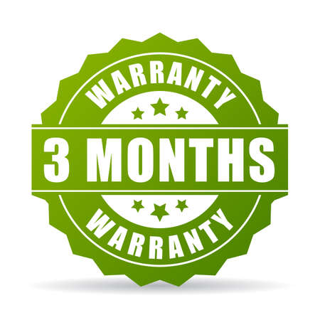 Three months warranty vector icon