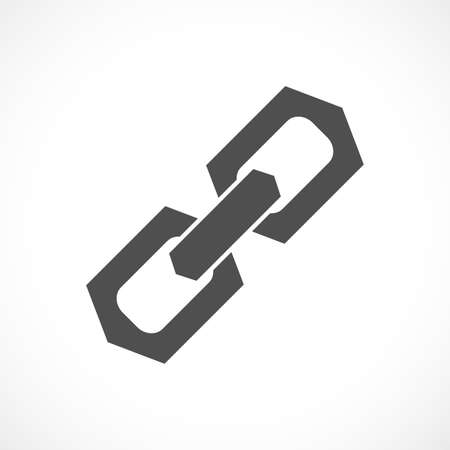 pressure linked: Chain link vector icon Illustration
