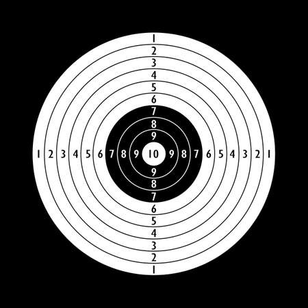 individuals: Blank shooting target template