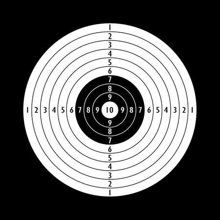 Blank shooting target template