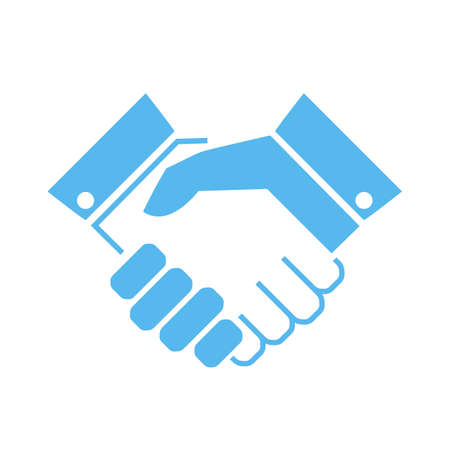 Handshake vector icon Stock Illustratie