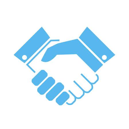 Handshake vector icon Vettoriali